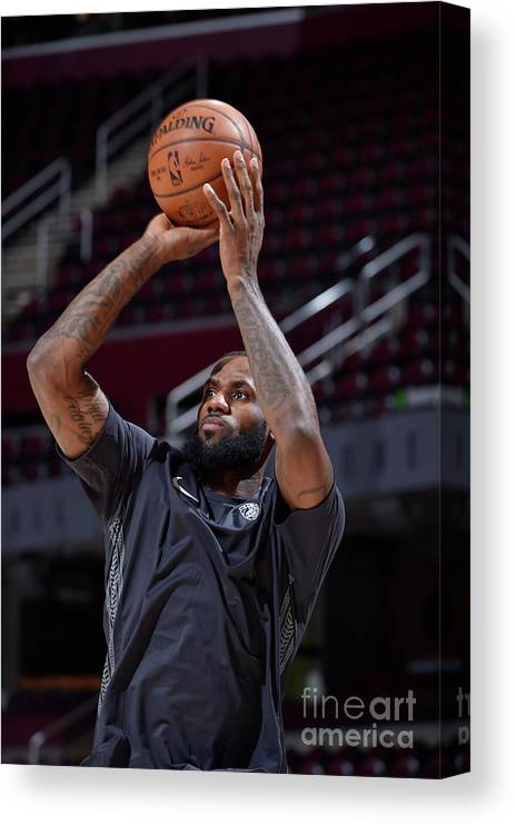 Nba Pro Basketball Canvas Print featuring the photograph Lebron James by David Liam Kyle