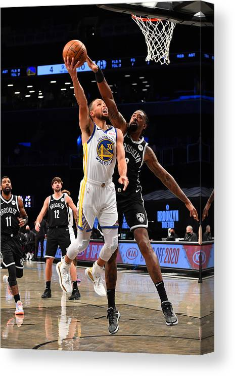 Nba Pro Basketball Canvas Print featuring the photograph Stephen Curry by Jesse D. Garrabrant