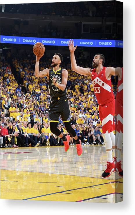 Playoffs Canvas Print featuring the photograph Stephen Curry by Andrew D. Bernstein
