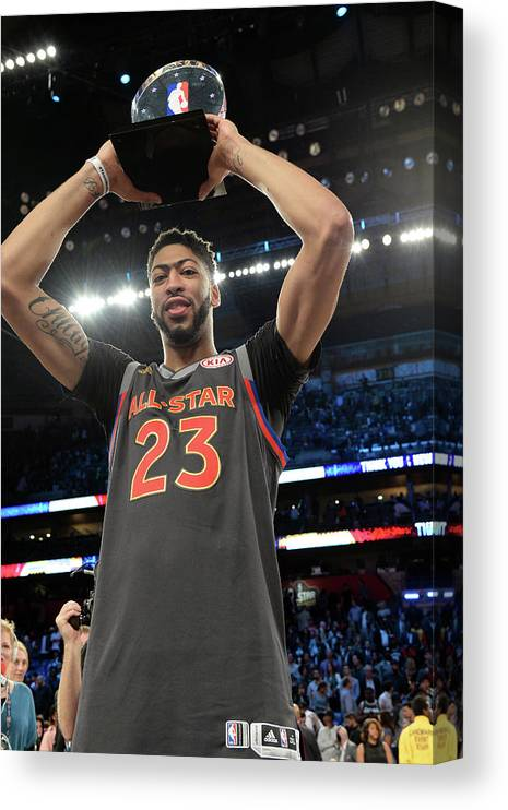 Event Canvas Print featuring the photograph Anthony Davis by Andrew D. Bernstein