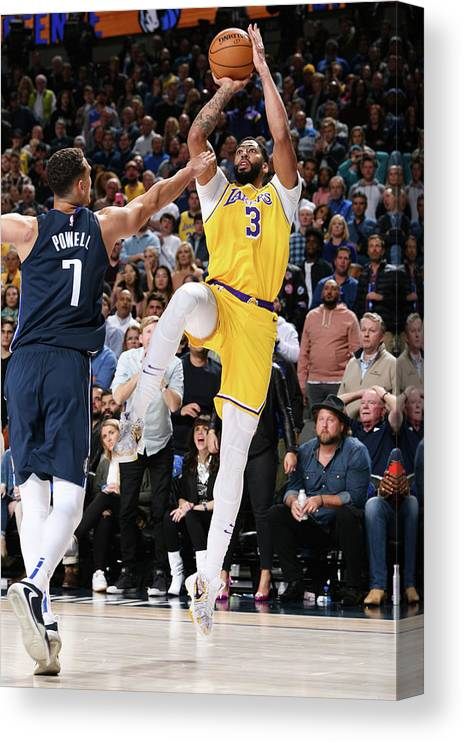 Nba Pro Basketball Canvas Print featuring the photograph Anthony Davis by Glenn James