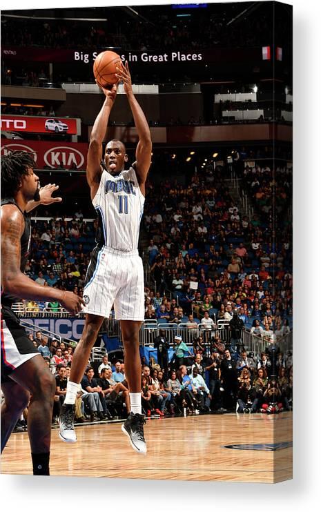 Nba Pro Basketball Canvas Print featuring the photograph Bismack Biyombo by Fernando Medina
