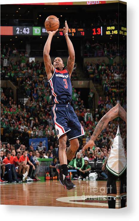Playoffs Canvas Print featuring the photograph Bradley Beal by Brian Babineau