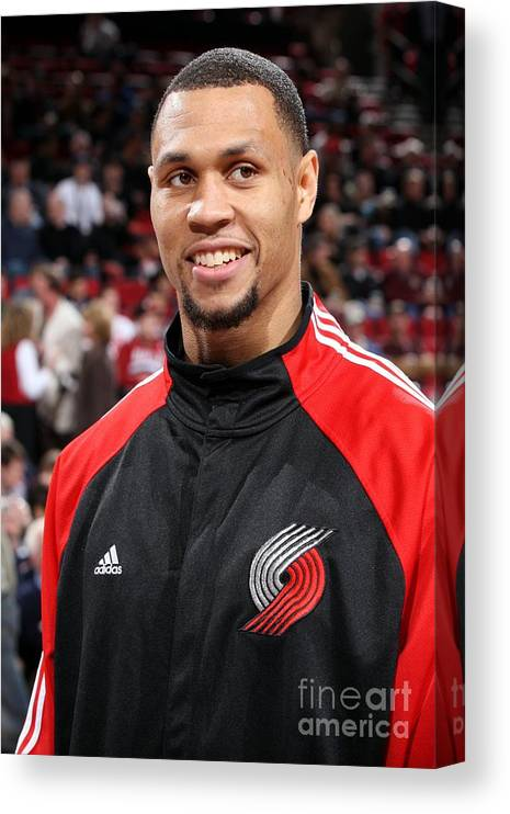 Nba Pro Basketball Canvas Print featuring the photograph Brandon Roy by Sam Forencich