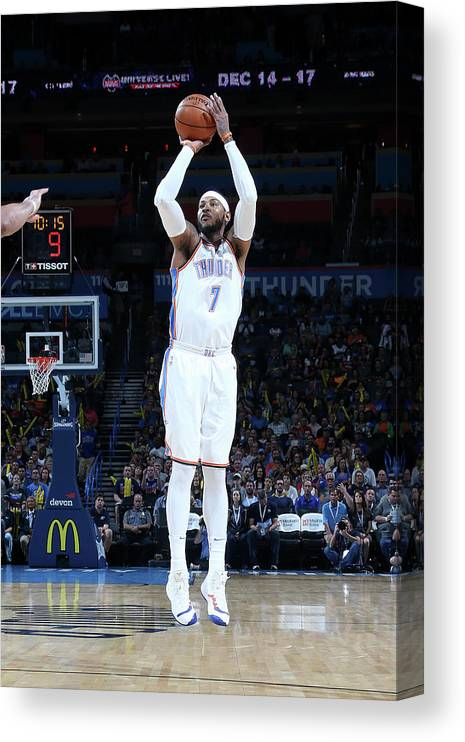 Nba Pro Basketball Canvas Print featuring the photograph Carmelo Anthony by Layne Murdoch