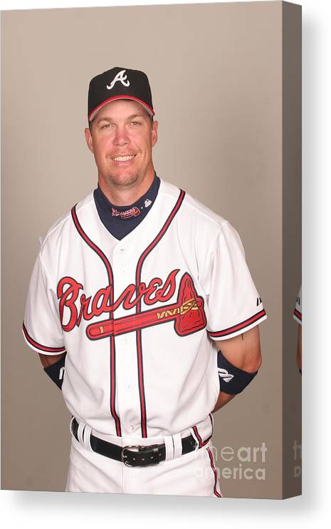 Media Day Canvas Print featuring the photograph Chipper Jones by Tony Firriolo