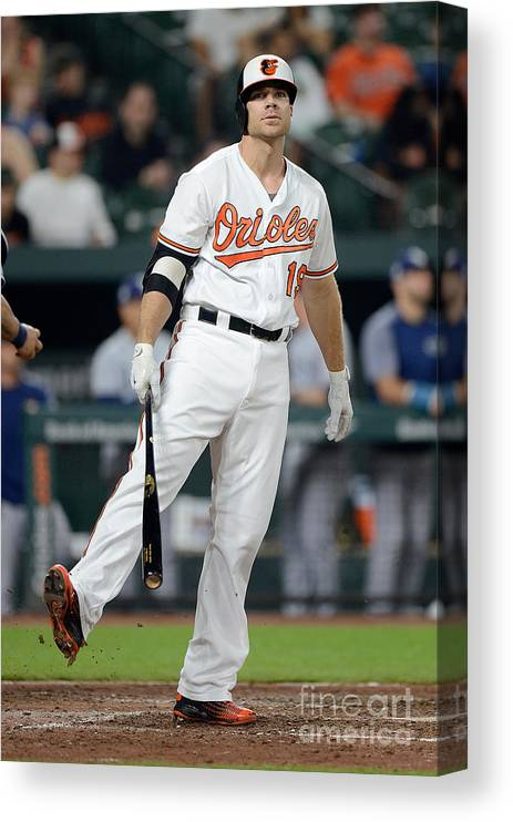 People Canvas Print featuring the photograph Chris Davis by Greg Fiume