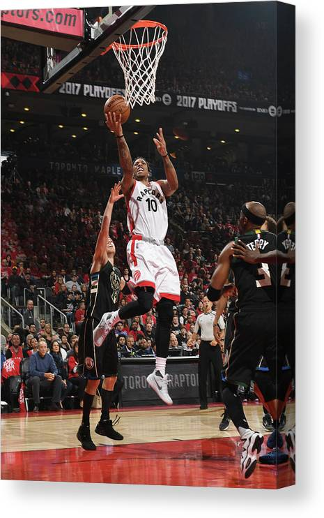 Playoffs Canvas Print featuring the photograph Demar Derozan by Ron Turenne