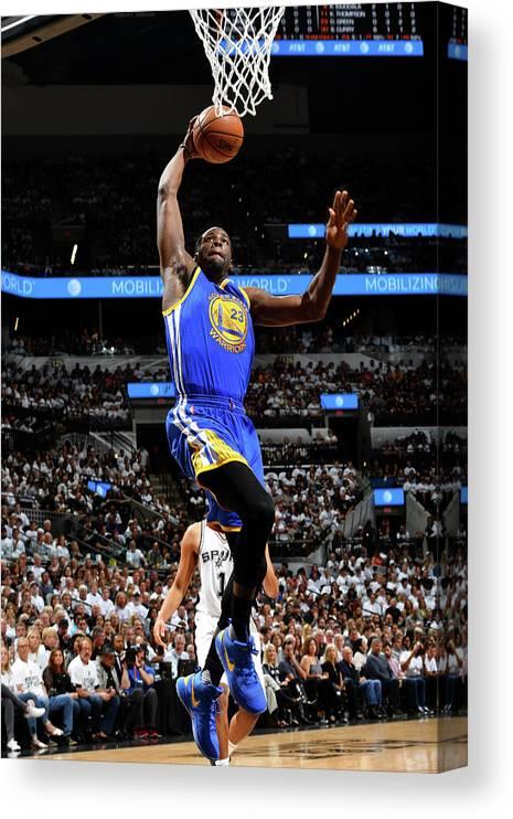 Playoffs Canvas Print featuring the photograph Draymond Green by Jesse D. Garrabrant