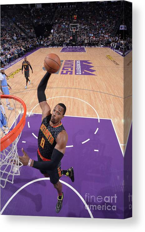 Nba Pro Basketball Canvas Print featuring the photograph Dwight Howard by Rocky Widner