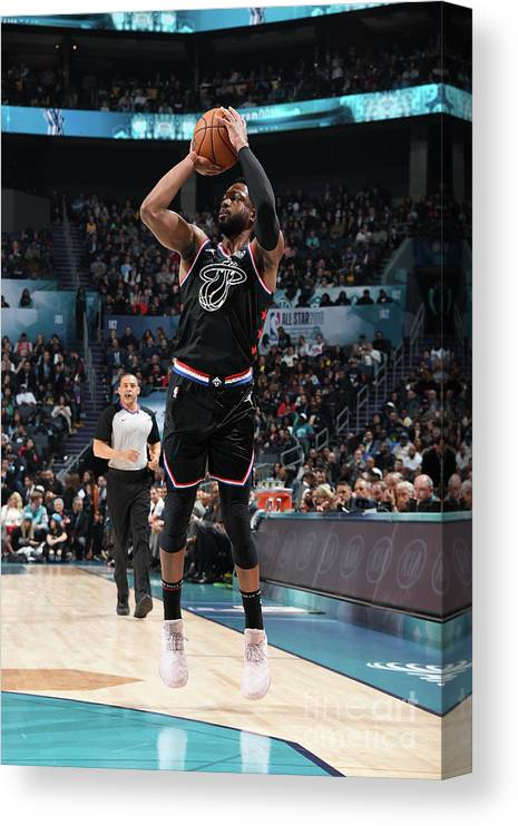 Nba Pro Basketball Canvas Print featuring the photograph Dwyane Wade by Andrew D. Bernstein