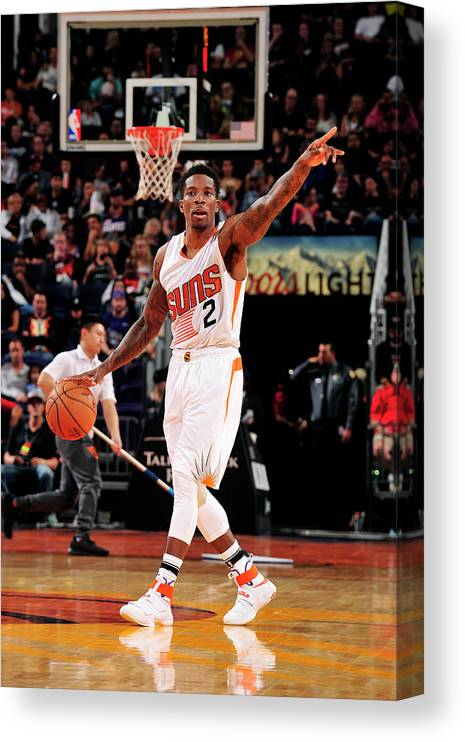 Nba Pro Basketball Canvas Print featuring the photograph Eric Bledsoe by Barry Gossage