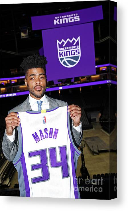 Nba Pro Basketball Canvas Print featuring the photograph Frank Mason by Rocky Widner