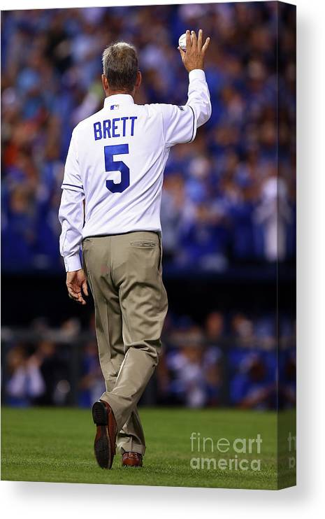 Game Two Canvas Print featuring the photograph George Brett by Elsa