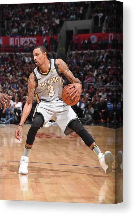 Nba Pro Basketball Canvas Print featuring the photograph George Hill by Andrew D. Bernstein