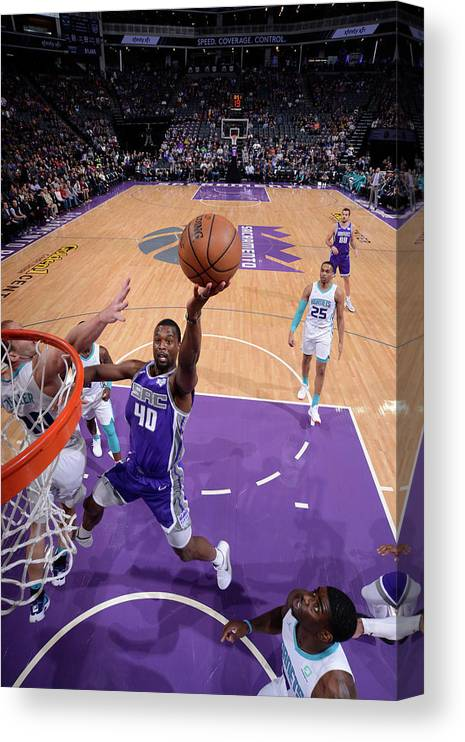 Nba Pro Basketball Canvas Print featuring the photograph Harrison Barnes by Rocky Widner