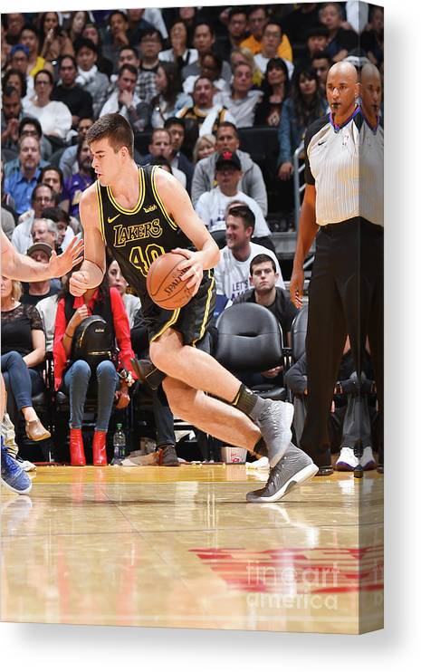 Nba Pro Basketball Canvas Print featuring the photograph Ivica Zubac by Andrew D. Bernstein