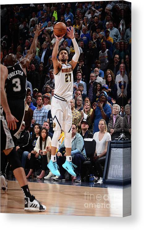 Playoffs Canvas Print featuring the photograph Jamal Murray by Bart Young