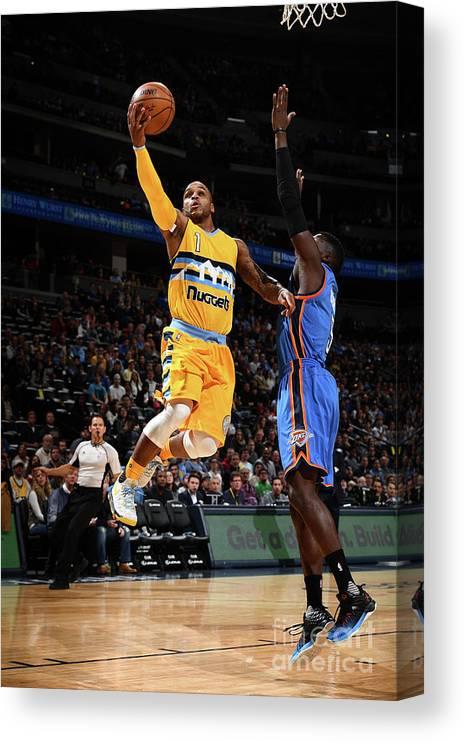 Nba Pro Basketball Canvas Print featuring the photograph Jameer Nelson by Garrett Ellwood
