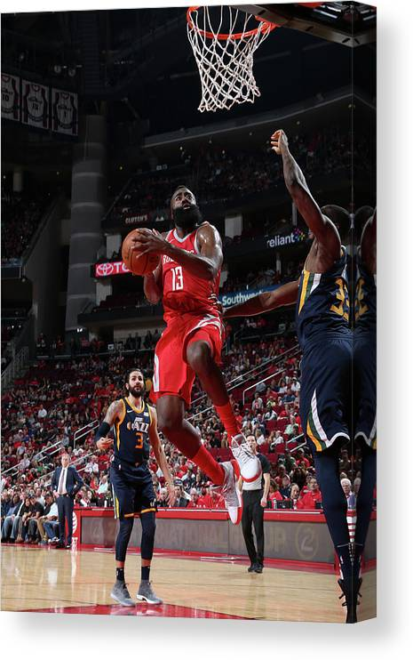 Nba Pro Basketball Canvas Print featuring the photograph James Harden by Layne Murdoch