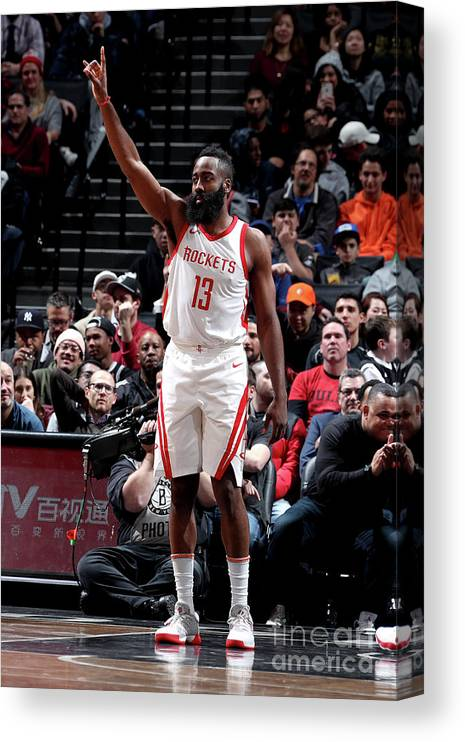Crowd Canvas Print featuring the photograph James Harden by Nathaniel S. Butler