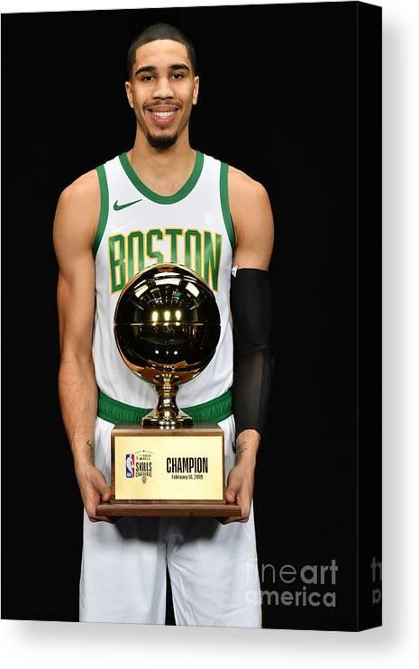 Nba Pro Basketball Canvas Print featuring the photograph Jayson Tatum by Jesse D. Garrabrant