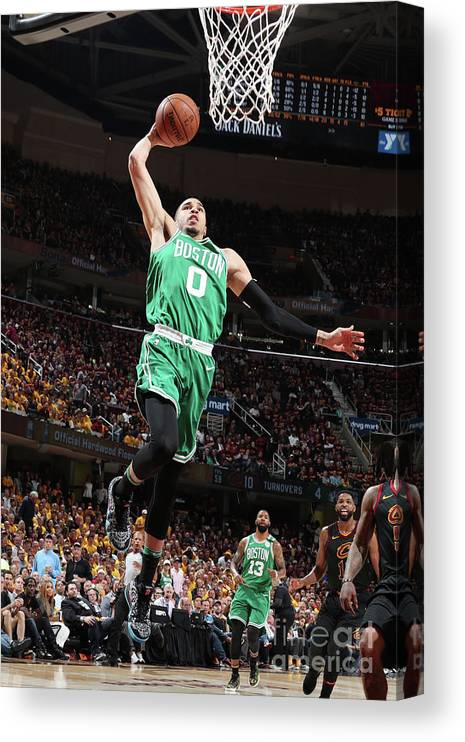 Playoffs Canvas Print featuring the photograph Jayson Tatum by Nathaniel S. Butler