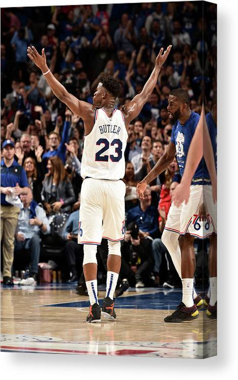 Playoffs Canvas Print featuring the photograph Jimmy Butler by David Dow