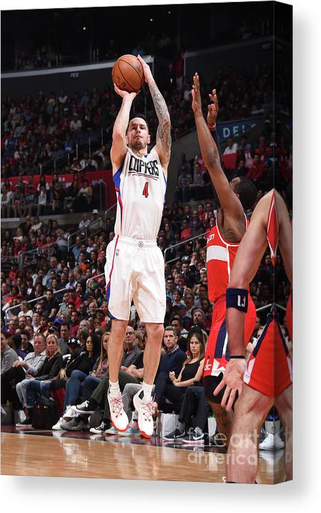 Nba Pro Basketball Canvas Print featuring the photograph J.j. Redick by Andrew D. Bernstein