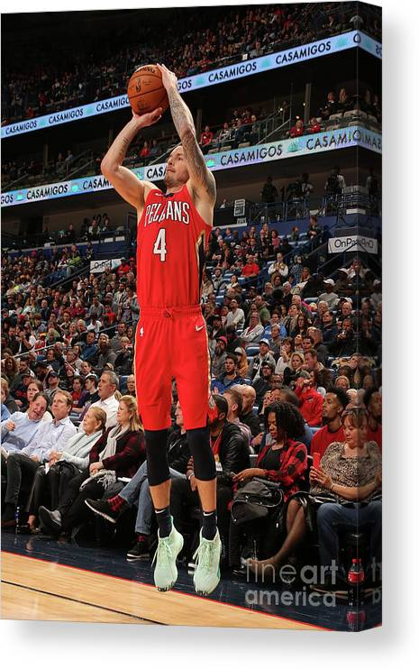 Smoothie King Center Canvas Print featuring the photograph J.j. Redick by Layne Murdoch Jr.