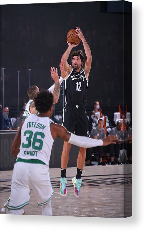 Nba Pro Basketball Canvas Print featuring the photograph Joe Harris by Bill Baptist