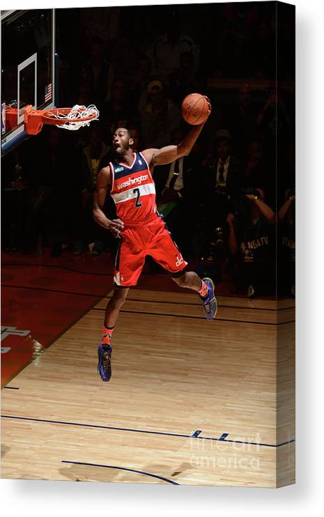 Smoothie King Center Canvas Print featuring the photograph John Wall by Garrett Ellwood