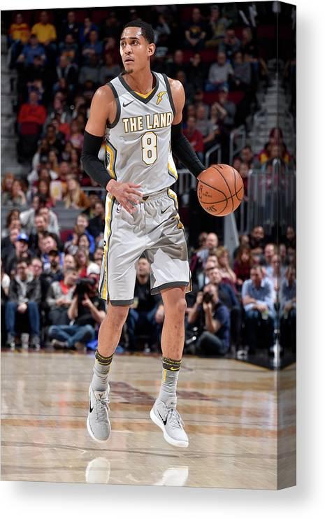 Nba Pro Basketball Canvas Print featuring the photograph Jordan Clarkson by David Liam Kyle