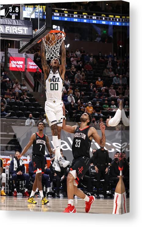 Nba Pro Basketball Canvas Print featuring the photograph Jordan Clarkson by Melissa Majchrzak