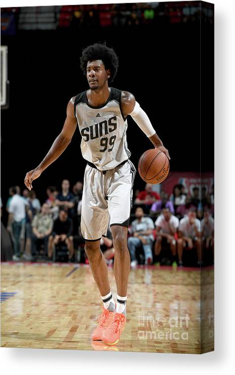 Nba Pro Basketball Canvas Print featuring the photograph Josh Jackson by Garrett Ellwood