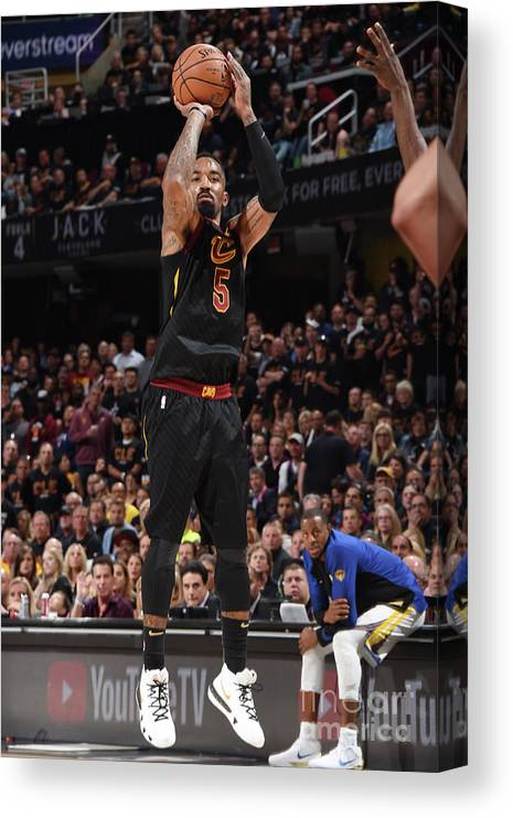 Playoffs Canvas Print featuring the photograph J.r. Smith by Andrew D. Bernstein