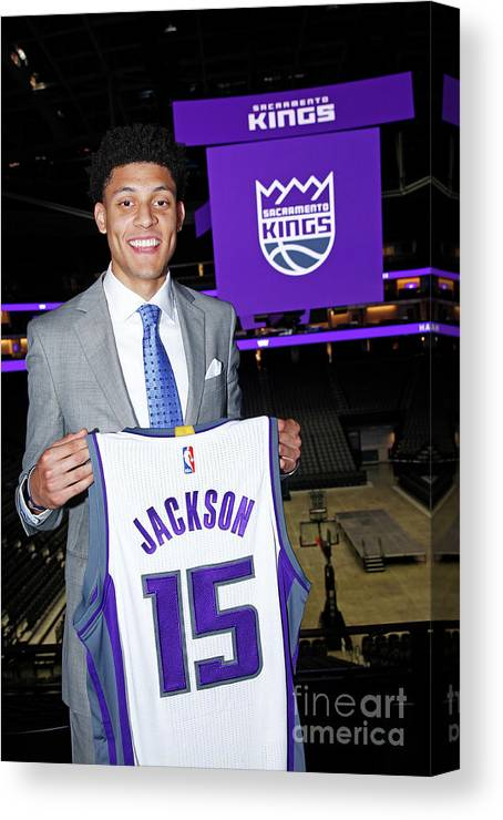 Nba Pro Basketball Canvas Print featuring the photograph Justin Jackson by Rocky Widner