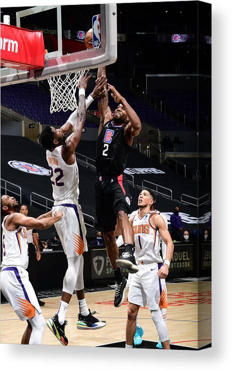 Nba Pro Basketball Canvas Print featuring the photograph Kawhi Leonard by Adam Pantozzi