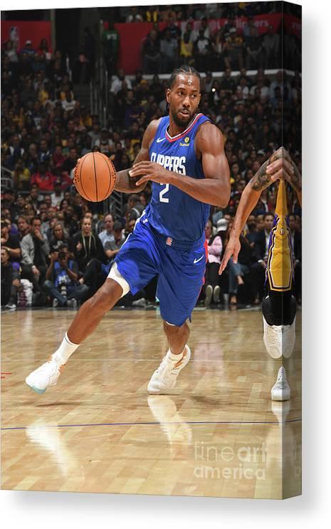 Nba Pro Basketball Canvas Print featuring the photograph Kawhi Leonard by Andrew D. Bernstein