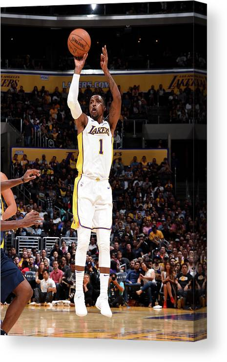 Nba Pro Basketball Canvas Print featuring the photograph Kentavious Caldwell-pope by Andrew D. Bernstein