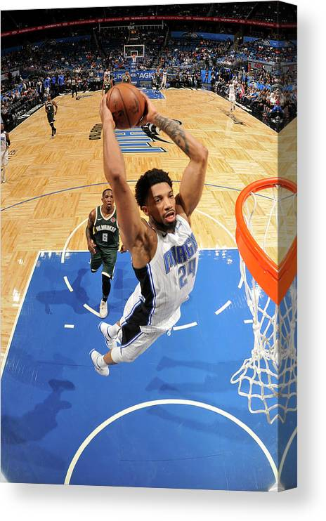 Nba Pro Basketball Canvas Print featuring the photograph Khem Birch by Fernando Medina