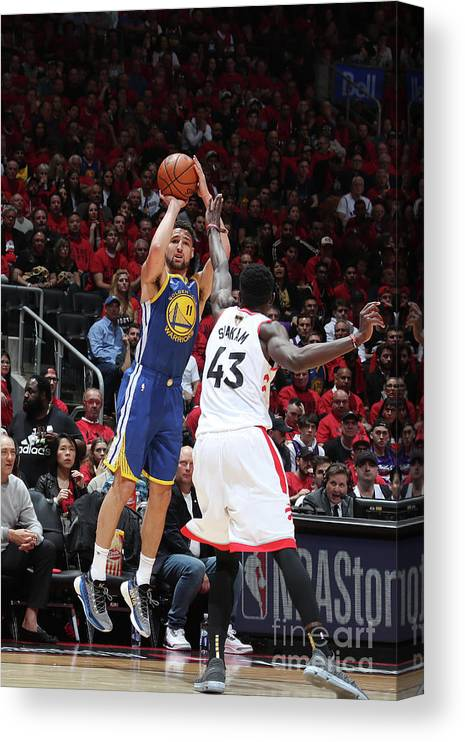 Playoffs Canvas Print featuring the photograph Klay Thompson by Nathaniel S. Butler