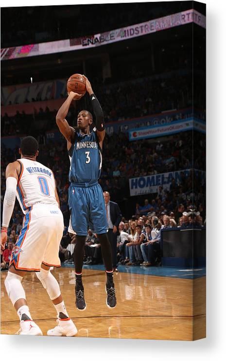 Nba Pro Basketball Canvas Print featuring the photograph Kris Dunn by Layne Murdoch