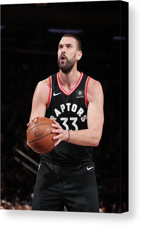 Nba Pro Basketball Canvas Print featuring the photograph Marc Gasol by Nathaniel S. Butler
