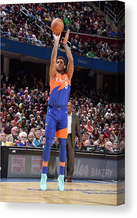 Nba Pro Basketball Canvas Print featuring the photograph Marquese Chriss by David Liam Kyle