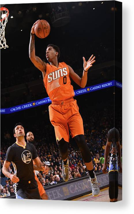 Nba Pro Basketball Canvas Print featuring the photograph Marquese Chriss by Noah Graham