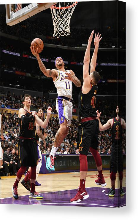 Michael Beasley Canvas Print featuring the photograph Michael Beasley by Andrew D. Bernstein