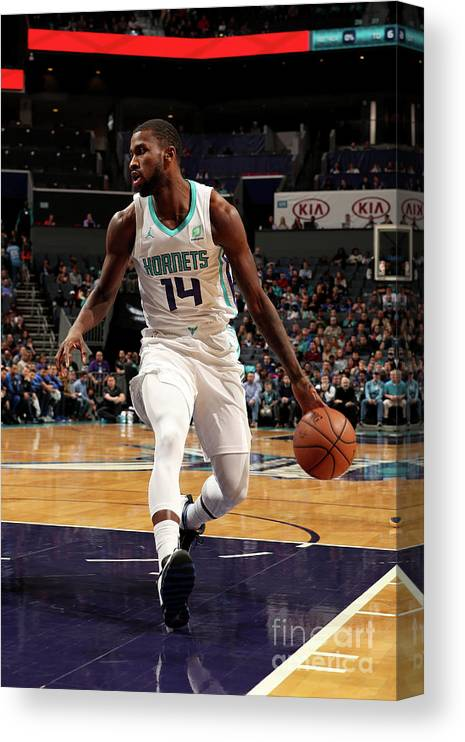 Nba Pro Basketball Canvas Print featuring the photograph Michael Kidd-gilchrist by Brock Williams-smith