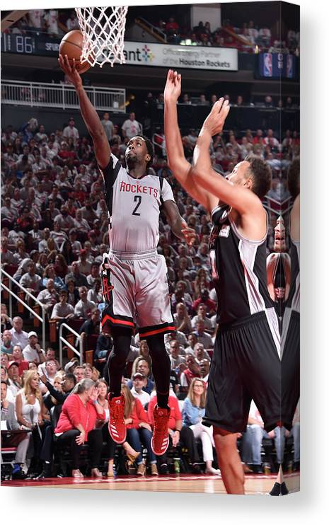Playoffs Canvas Print featuring the photograph Patrick Beverley by Bill Baptist