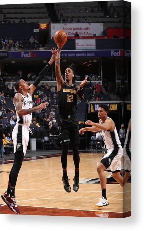 Nba Pro Basketball Canvas Print featuring the photograph Play-In Tournament - San Antonio Spurs v Memphis Grizzlies by Joe Murphy
